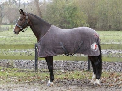 Fleece paardendeken dark gull gray.
